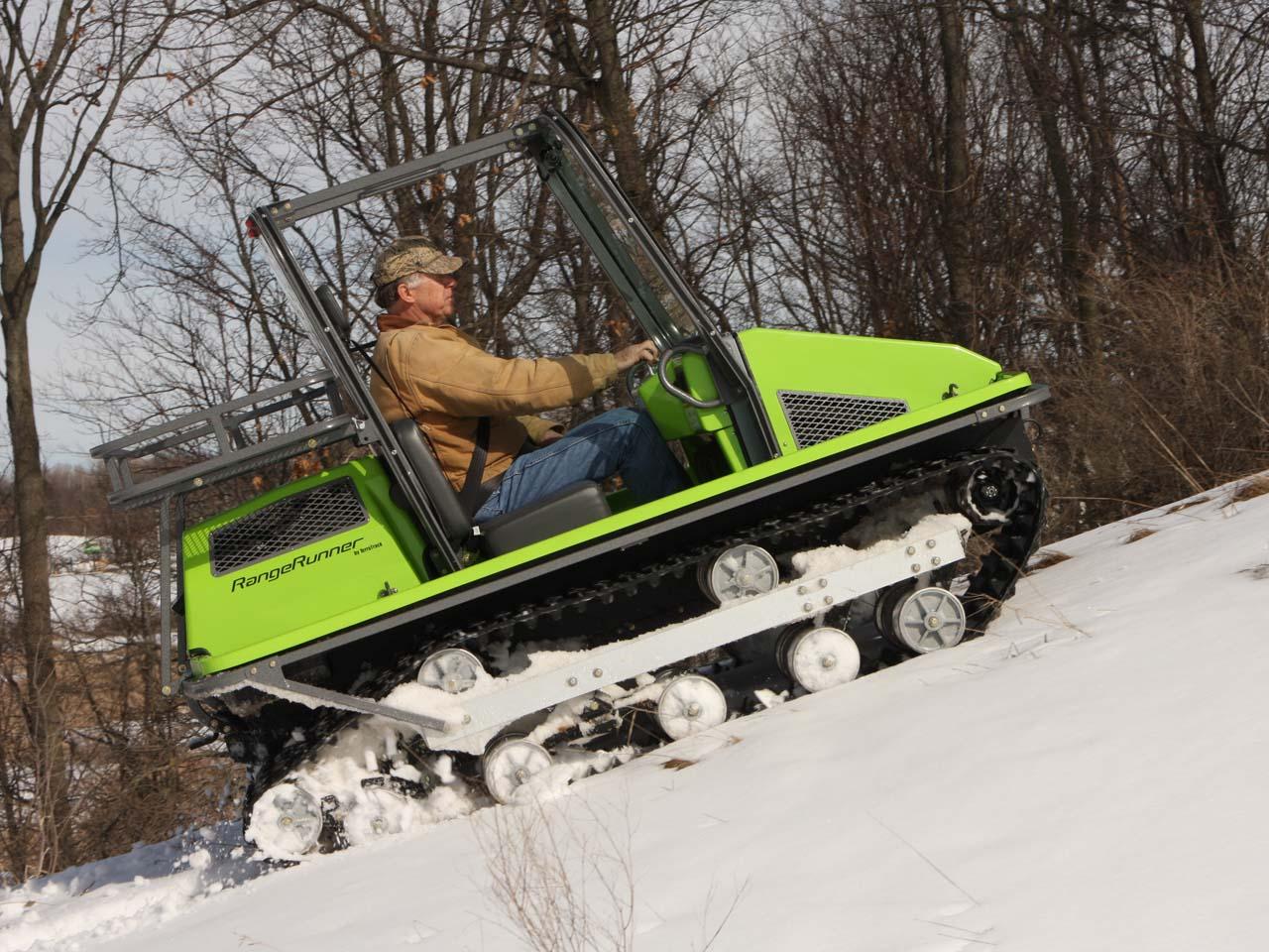 Как сделать самодельный снегоход на гусеницах 44