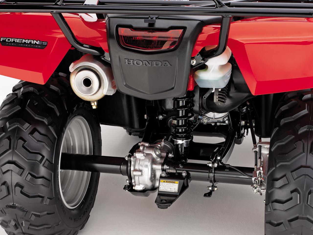 2012.honda_.fourtrax-foreman.close-up.rear-suspension.