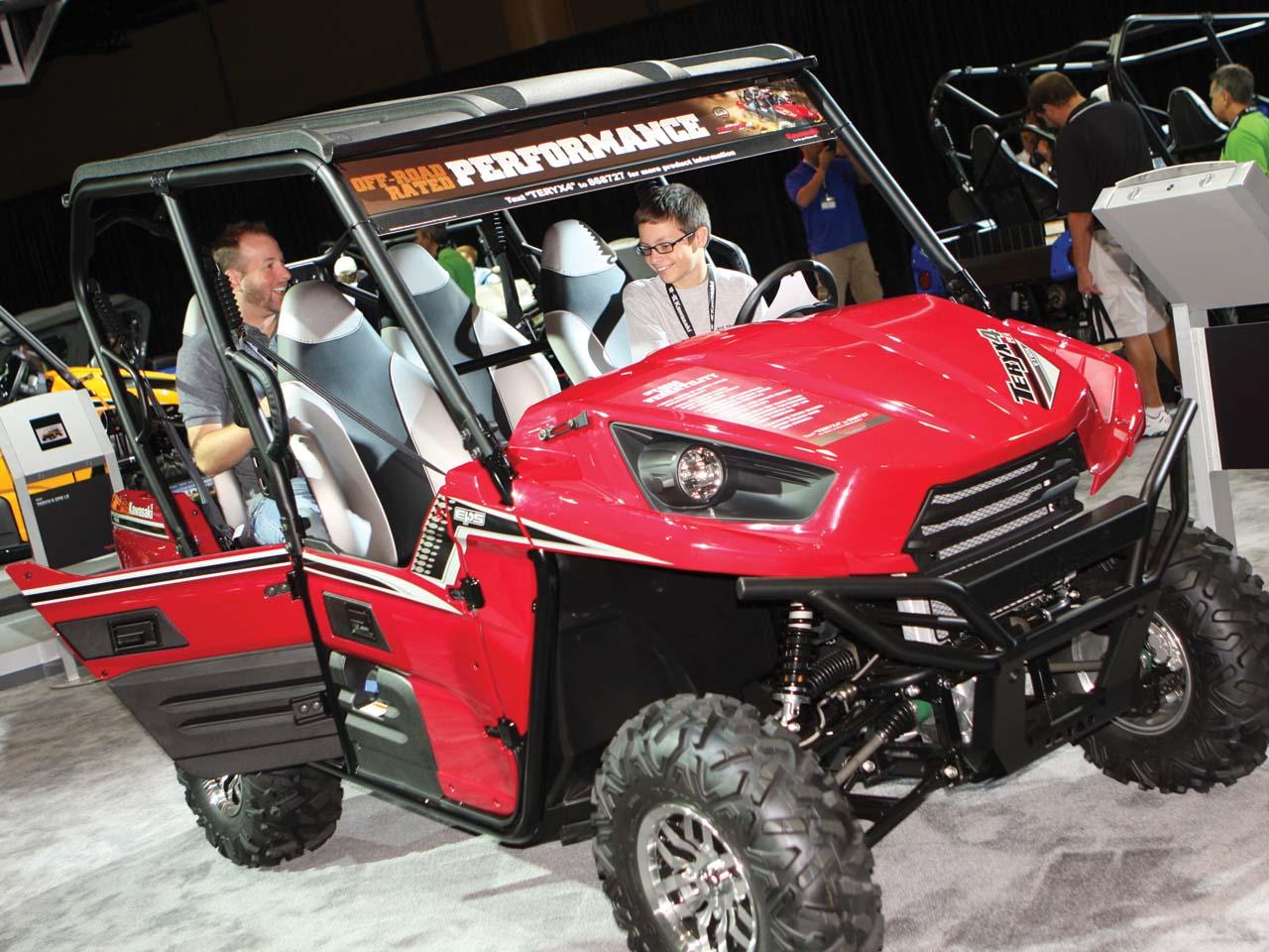 2012 kawasaki teryx 4 model preview at kawasaki event | atv