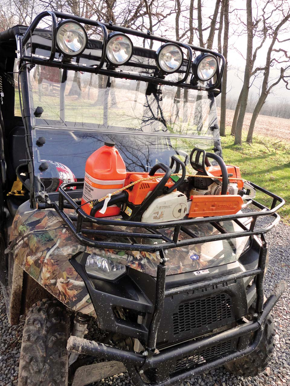 Polaris Ranger Efi Camo Front With Accessories on polaris ranger 500 suspension