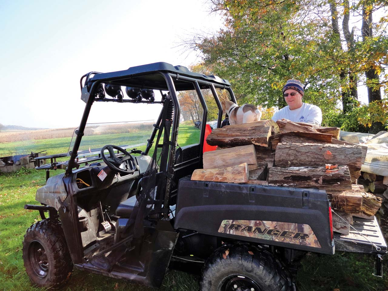 We loaded the ranger 500 with all the wood we could stack on it and it had no problem carrying more than the load it was rated for it makes rick happy