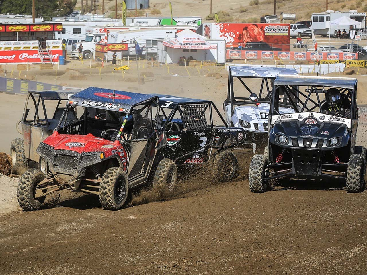 "top three spots in ""Production 1000"" class, Rahders steers RZR"