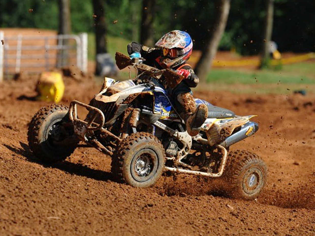 Four Wheelers Mx : Can am racers earn podiums at round six of ama atv mx