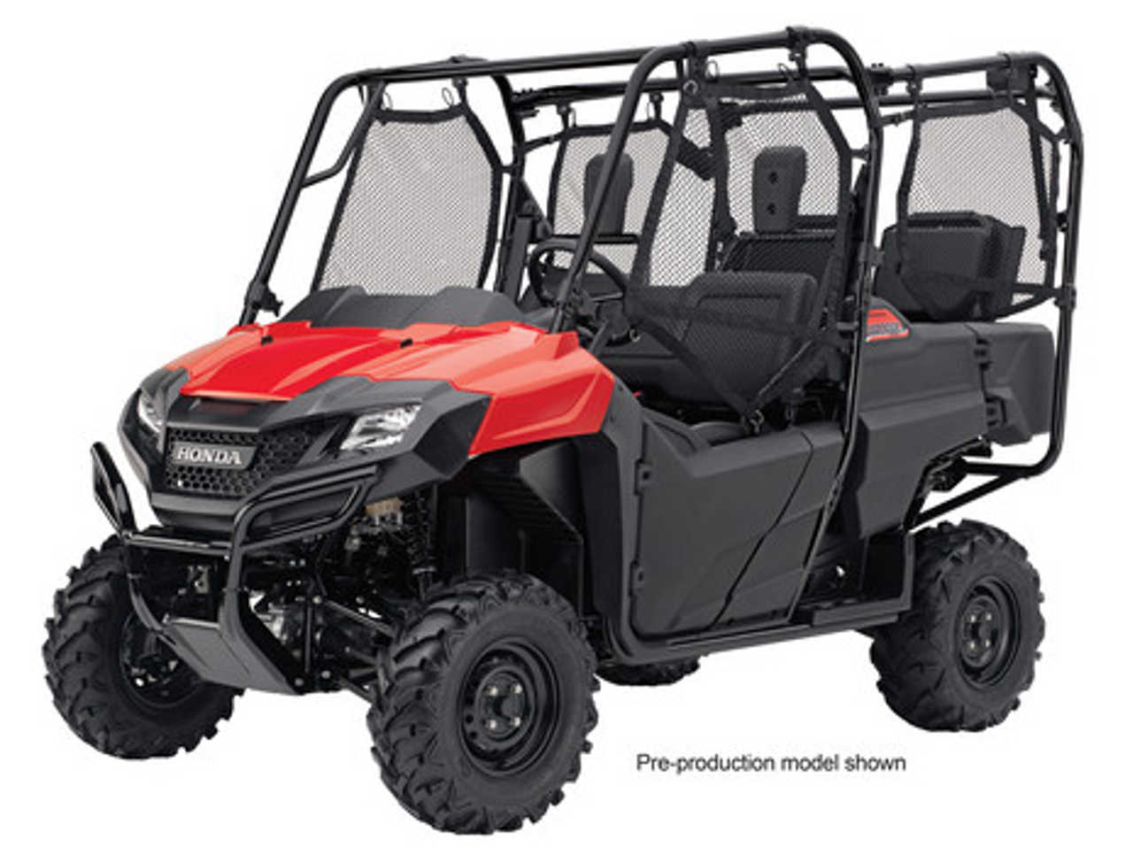 2014.honda.pioneer700-4.four-seater-side-x-side.red.front-left.studio