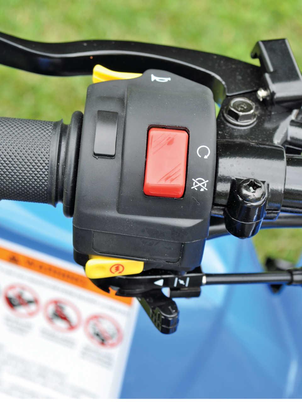 Mini Quad Test The Polaris Outlaw 90 Atv Illustrated Predator Fuel Filter 2014polarisoutlaw90close Upthumb Switches