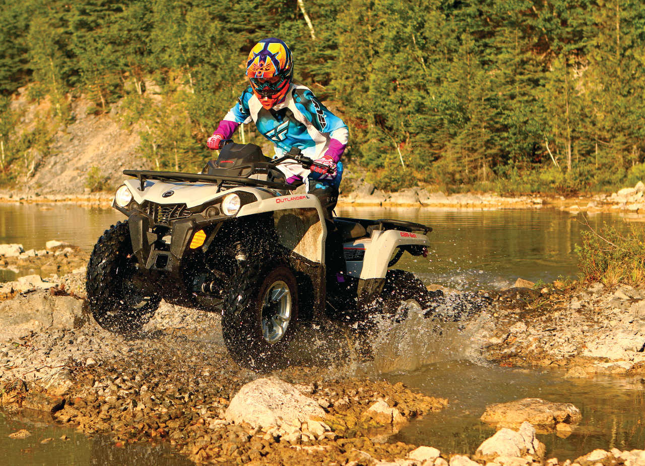 First Ride Can Am S Outlander L 450 Atv Illustrated
