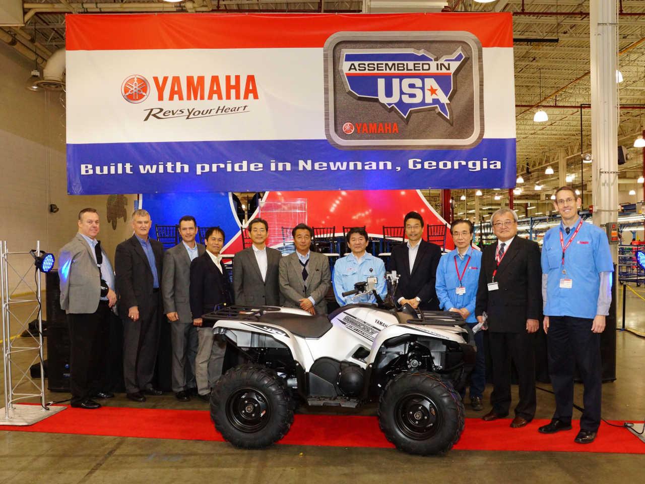 Yamaha motor u s a celebrates manufacturing 3 million for Motor manufacturers in usa