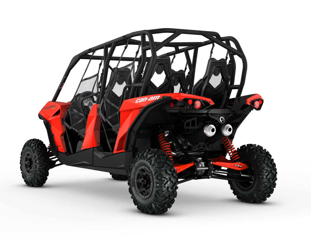 2016 Can Am Maverick Max Dps1000r Red Rear