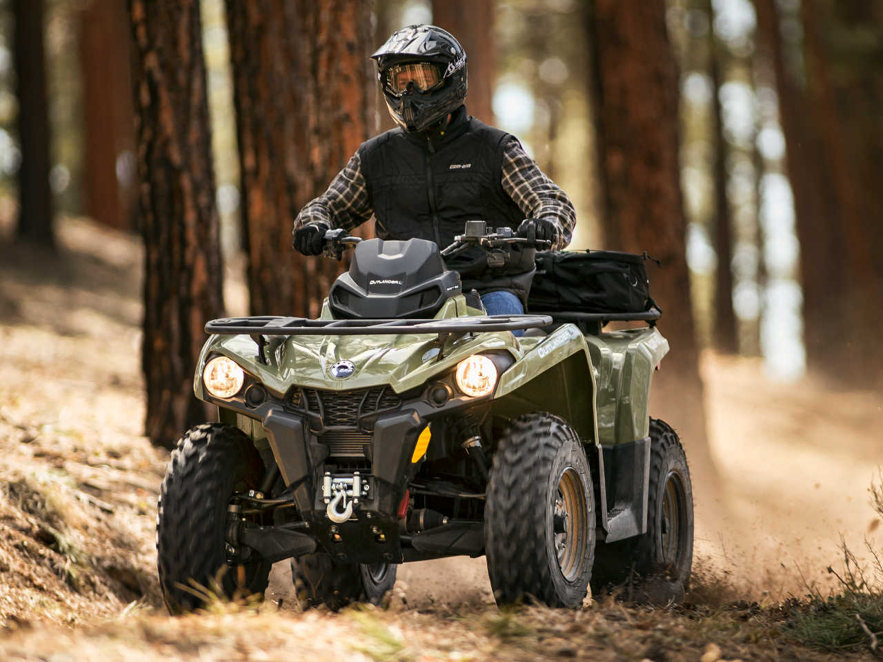 2016 Can Am Outlander L 570 Green Front