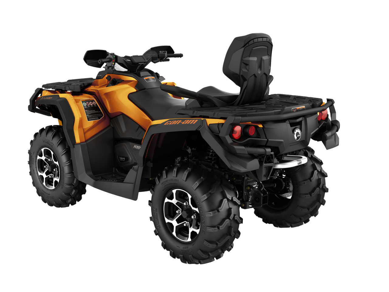 2016 Can Am Outlander Max1000r Limited Orange Rear