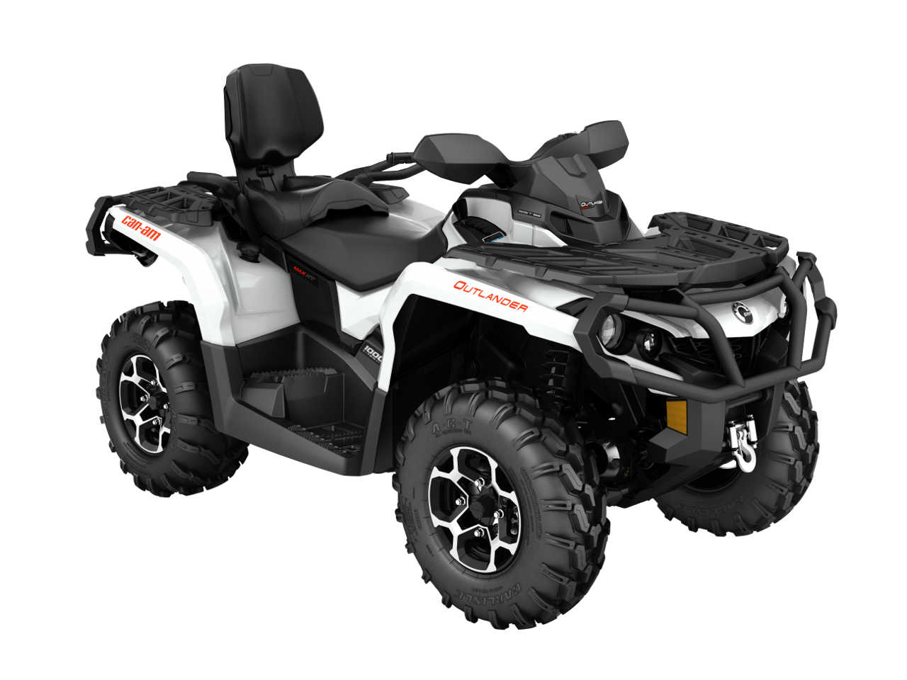 2016 Can Am Outlander Max1000r Xt White Front