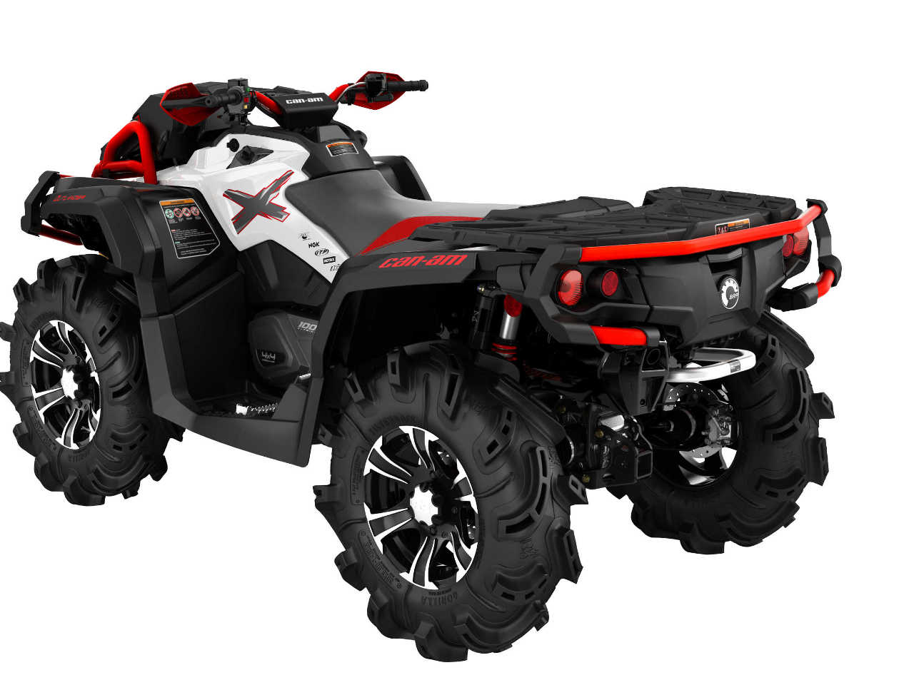 2016 Can Am Outlander X Mr 1000r White