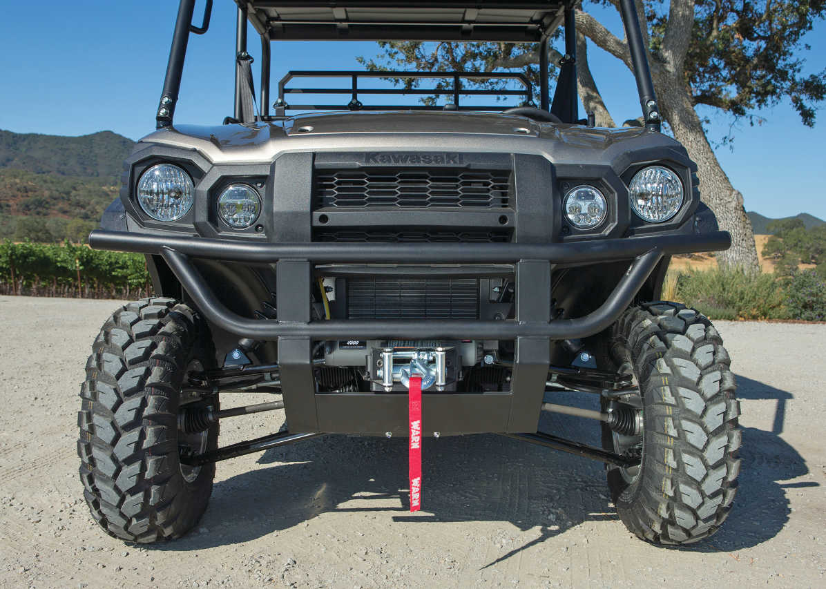 Kawasaki Mule Front Bumper : New model test day of the mule atv illustrated