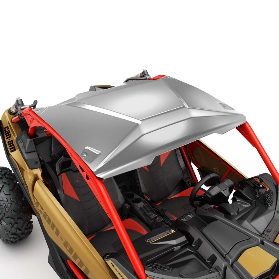 Brp sets the standard in performance side by side vehicles for Roof accents