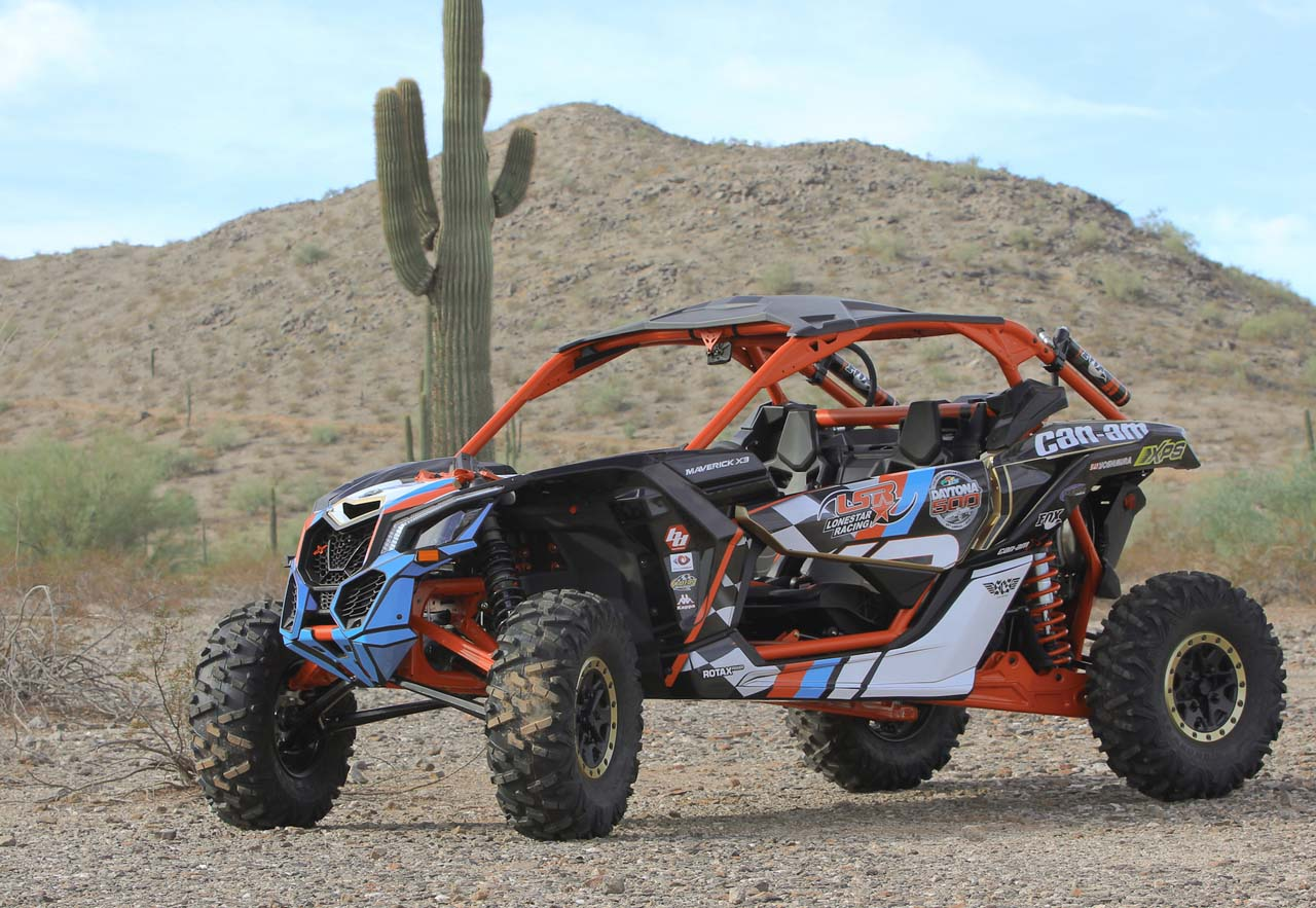 brp unveils race inspired can am maverick x3 at phoenix international raceway atv illustrated. Black Bedroom Furniture Sets. Home Design Ideas