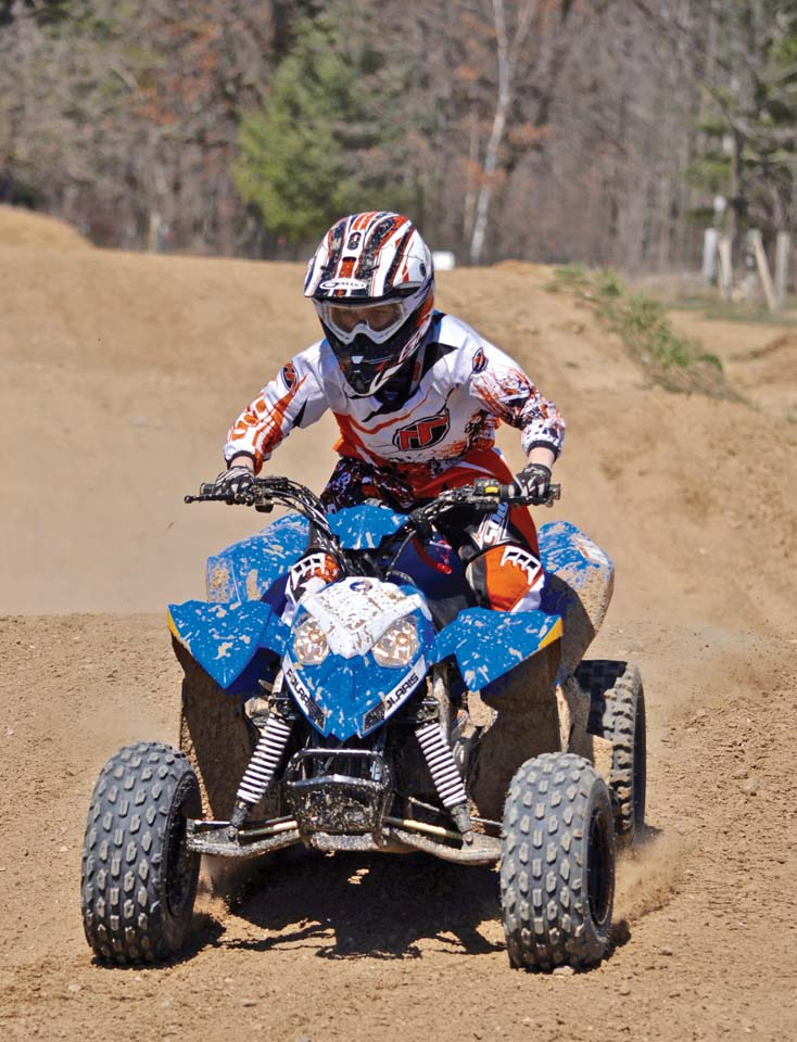 Side By Side Atvs >> Ride Tested - The Polaris Outlaw 110 | ATV Illustrated