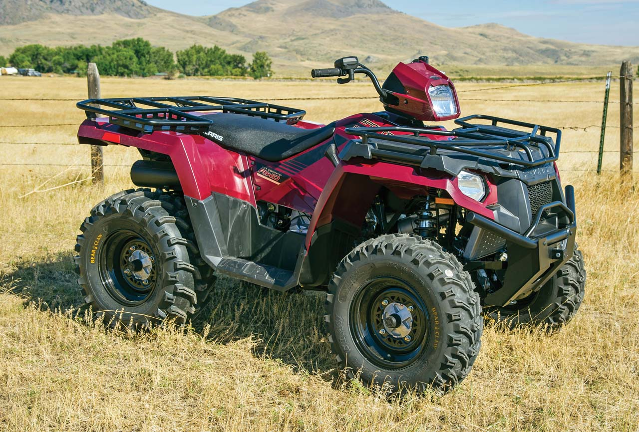2017 Polaris Sportsman570eps Red Right Parked In Field