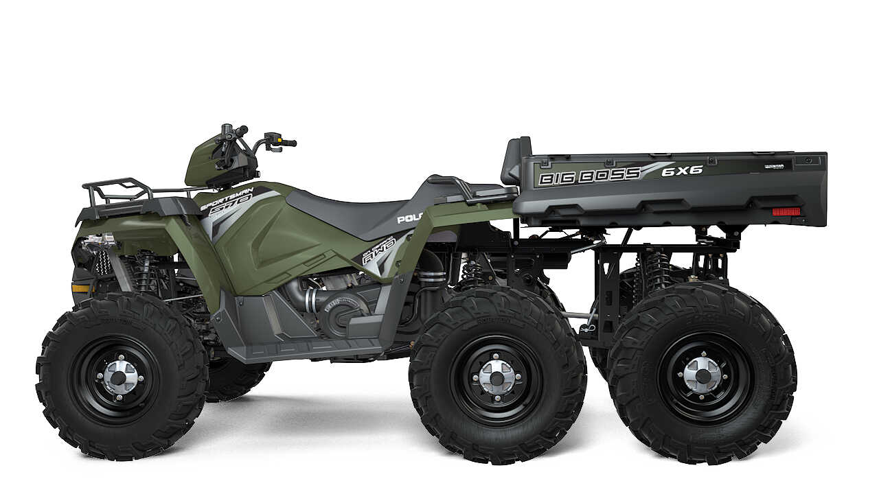 polaris introduces new sportsman 6x6 big boss 570 eps atv illustrated. Black Bedroom Furniture Sets. Home Design Ideas