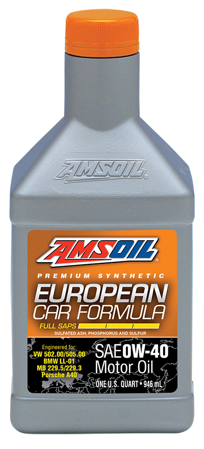Amsoil expands european line with addition of 0w 40 for What motor oil do i need