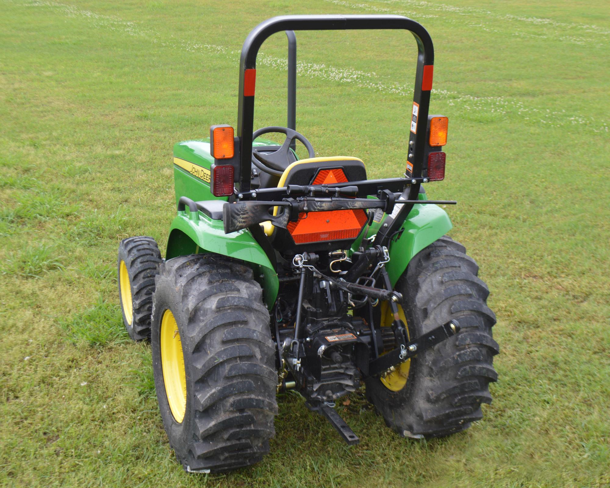 The Tractor Amp Mower Tag Along Rack Atv Illustrated