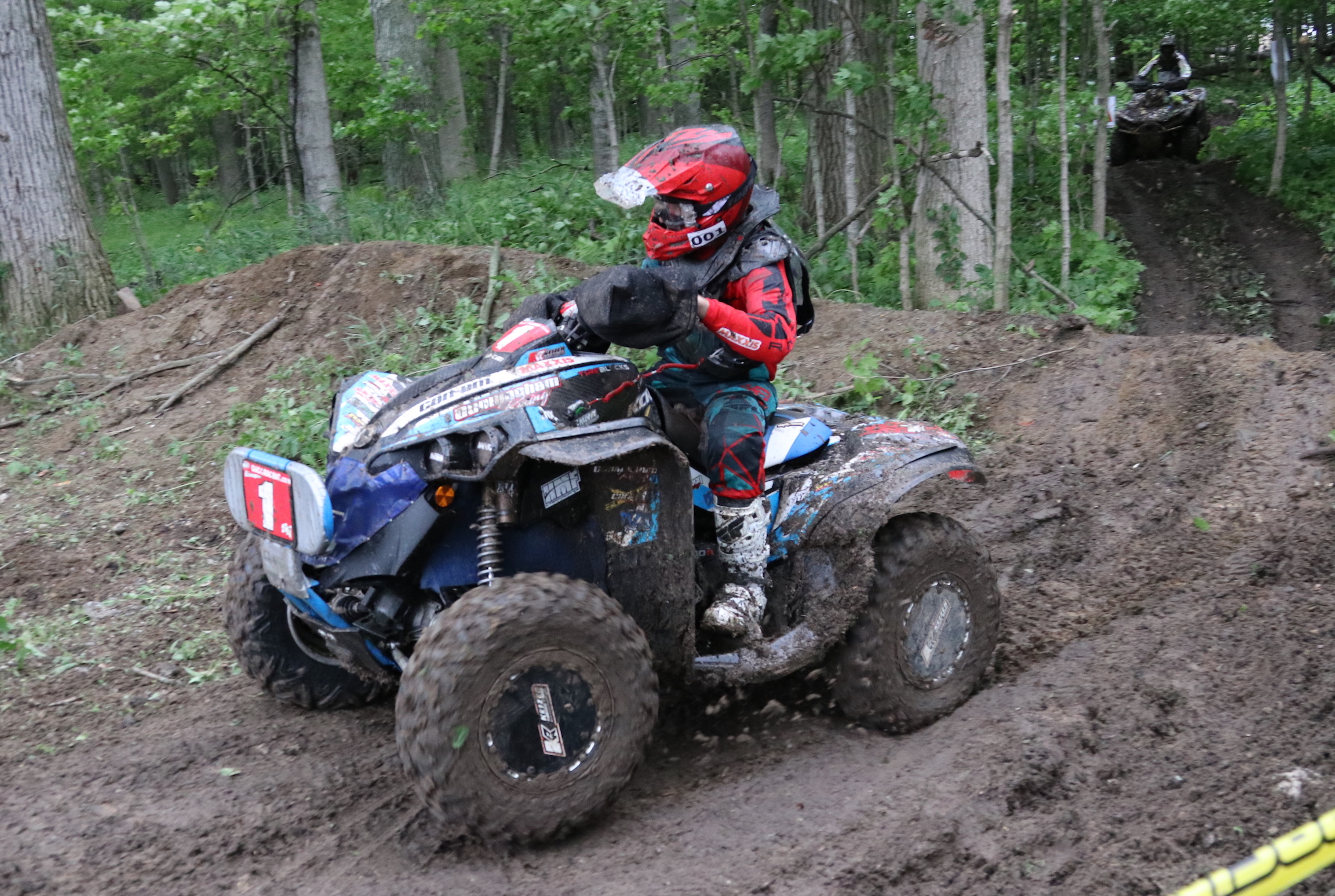 can am 4x4 pro atv racers post 1 2 finish atv illustrated. Black Bedroom Furniture Sets. Home Design Ideas