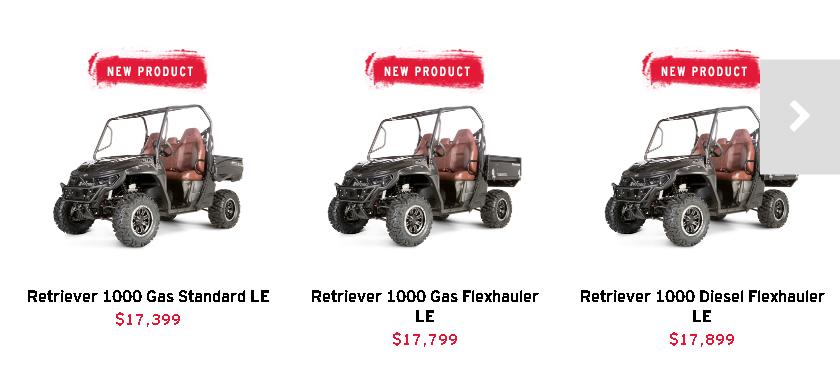 New 2018 Mahindra UTV Retriever - XTV - FlexHauler -LE - Limited Model - For Sale - Information - Price - Top Speed