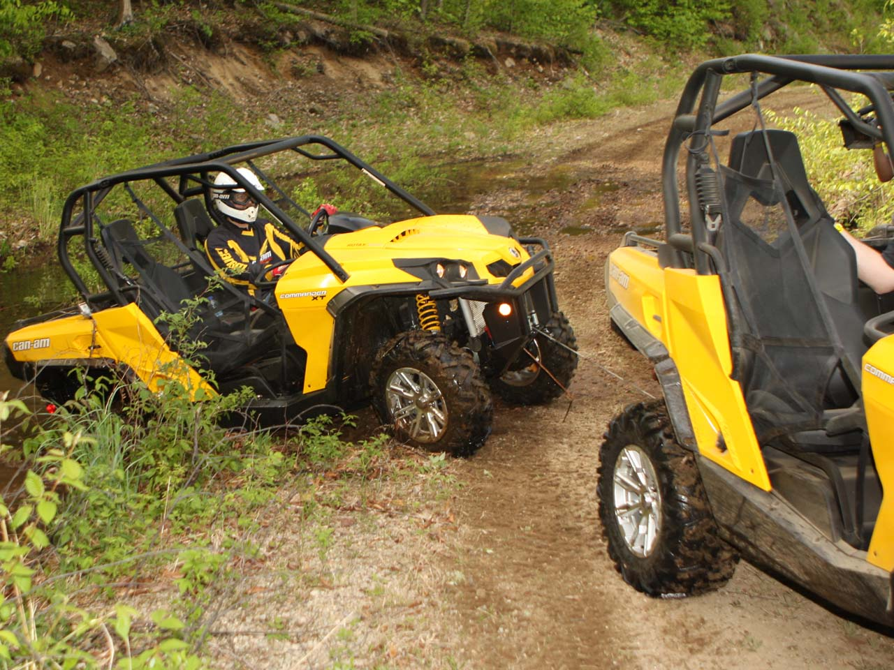 2011 Can Am Commander Side X Side First Ride Review Atv