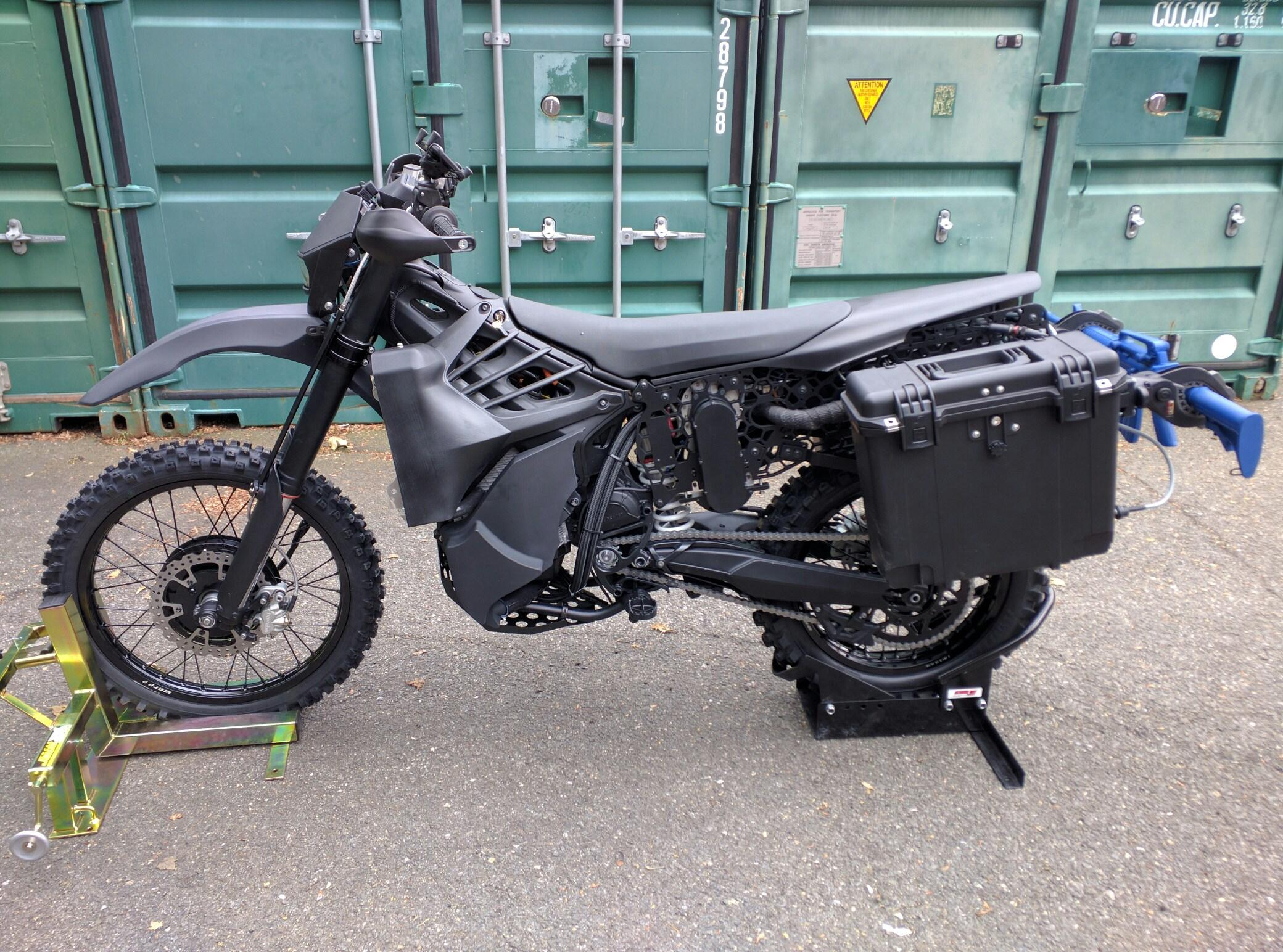Silenthawk Hybrid Electric Military Motorcycle Atv
