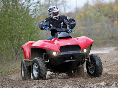 2013.gibbs-sports.quadski.amphibious-atv.red.front-left.riding.on-trail.JPG