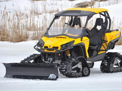 vendor.2013.american-manufactuering.eagle-plow.on-canam-commander.parked.on-snow.JPG
