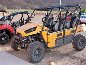 2012.location.moab-utah.arctic-cat-rally-on-the-rocks-event.kawasaki.tryx4.parked.on-dirt.jpg