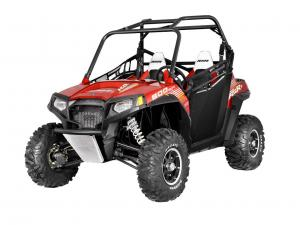Polaris introduced a new limited-edition RZR S 800 EPS Sunset Red in