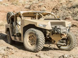 2014.polaris.dagor-military-vehicle.tan.front-right.parked.on-rocks.JPG