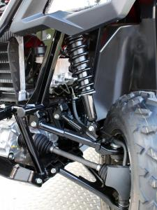 2015.honda.pioneer500.close-up.front-suspension.JPG
