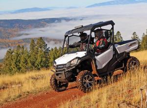 2016.honda.pioneer1000.white.front-left.riding.on-path.jpg