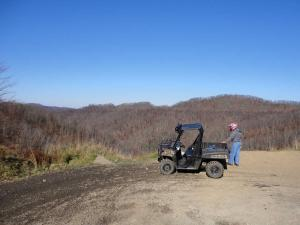 location.2014.west-virgina.hatfield-mccoy-trails-heaven.side-x-side.parked.by-hills.JPG