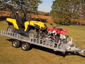 vendor.2011.aluma-atv-trailer.parked.loaded.can-am-commander.polaris-scrambler.jpg