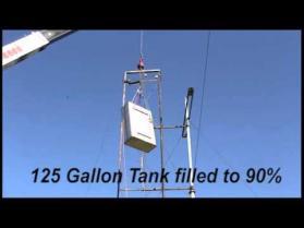 Transfer Flow 125 gallon fuel tank drop test