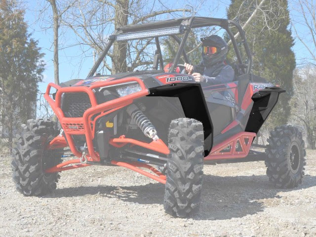 Give your RZR some style all while keeping your face safe. These fender flares give you 9 inches of protection on each side. And now you can choose just front, just rear, or both!