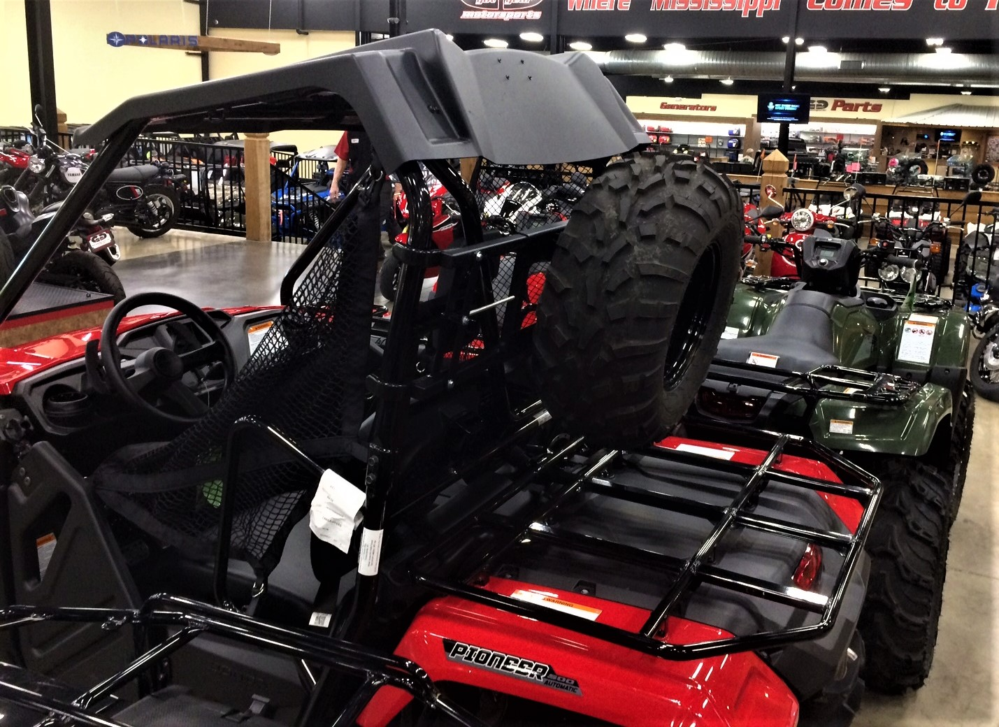 Custom Cart Spare Tire Carrier Great Day Uvccpr705 Stc Atv Illustrated