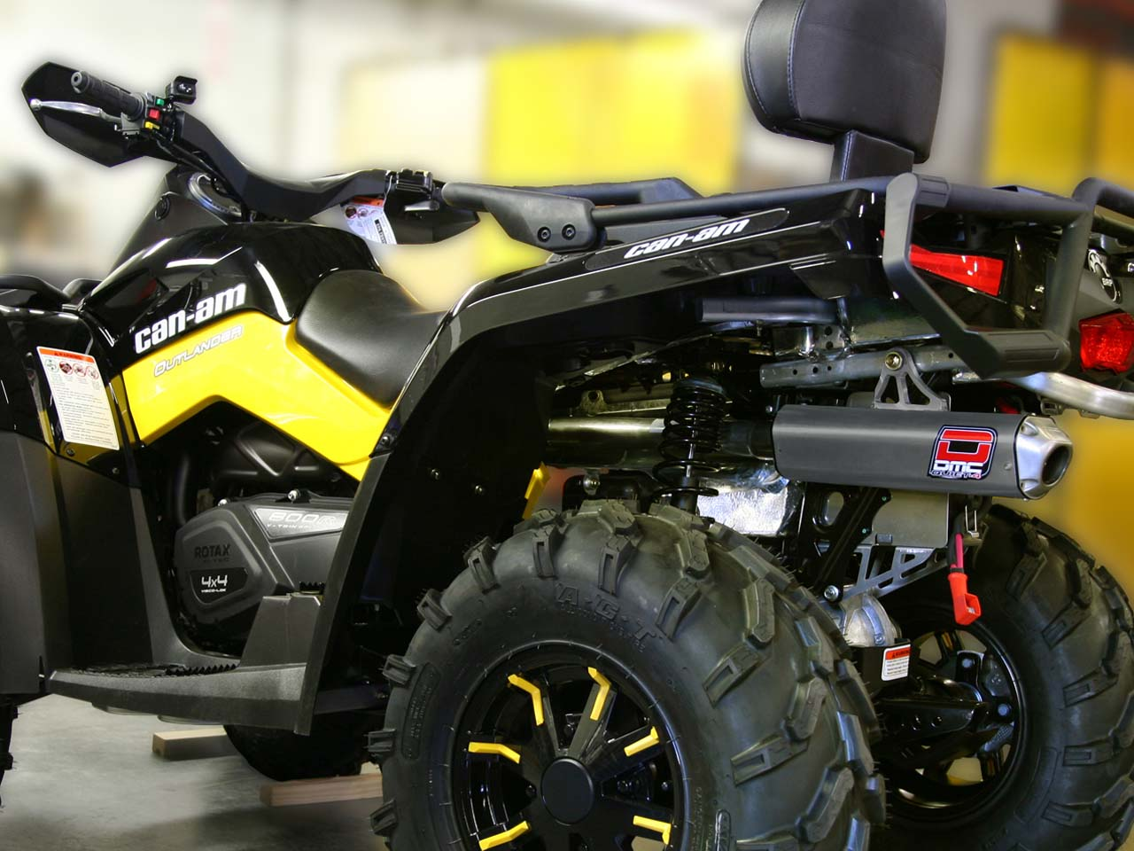 Atv Side By Side >> DMC announces two new Afterburner Slip-Ons for the Can Am Outlander 800 and 800 Max | ATV ...