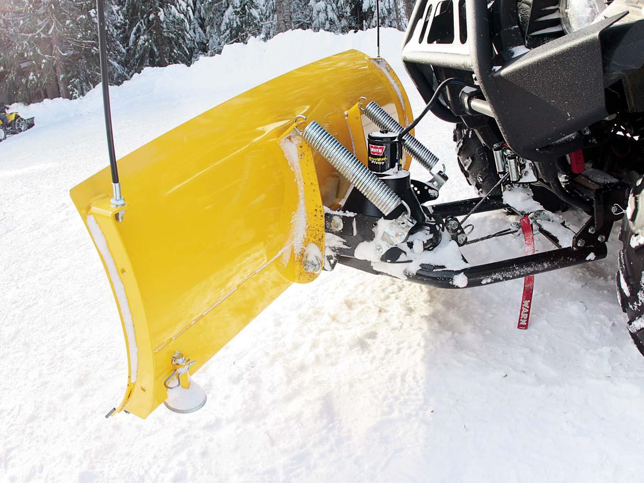 Снегоуборщик на квадроцикл своими руками