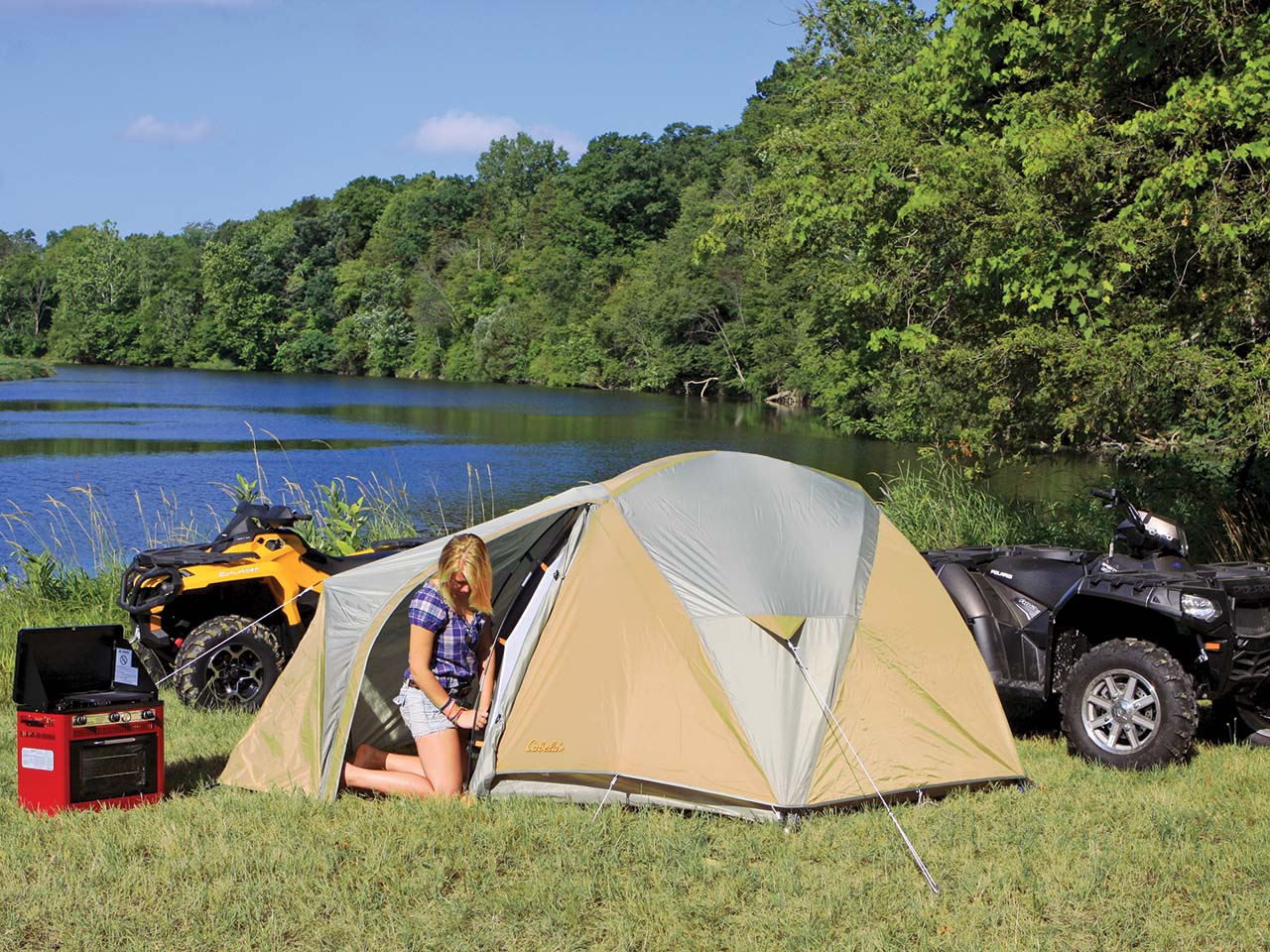 We picked gear that can hold up to the toughest trail rides and can be packed easily. The Cabelau0027s West Wind Dome Tent is well made ... & 2012 ATV Illustratedu0027s Favorite Camping Gear for the Outdoors ATV ...