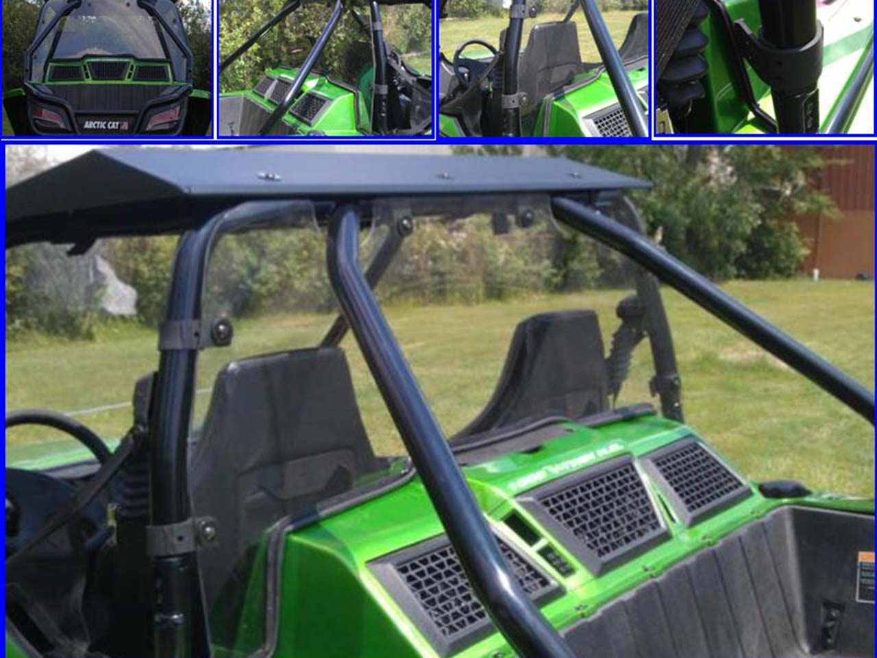 2012 extreme metal products arctic cat wildcat rear cab dust shield atv illustrated