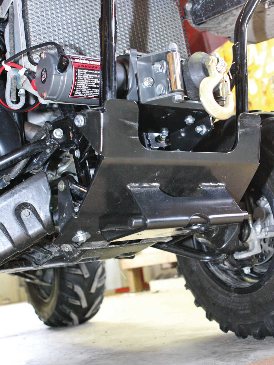 2013 american manufactures generation ii eagle plow atv snow plow this is the plow mount bolted onto our atv publicscrutiny Image collections