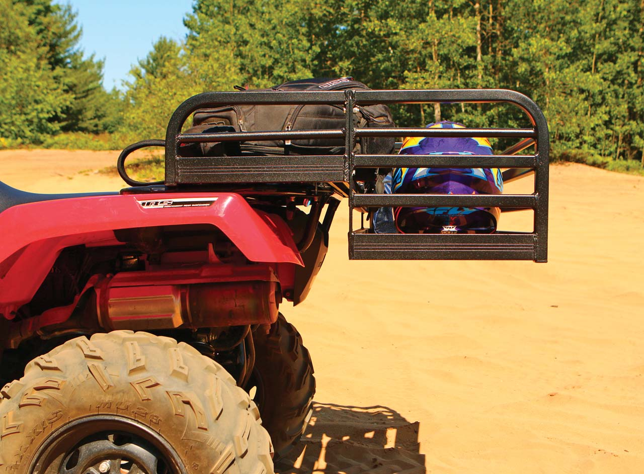 Best rack of the day car pictures - The Great Day Deep Rear Rack Does Stick Out Beyond The Atv Chassis But On The Trail It Makes No Difference