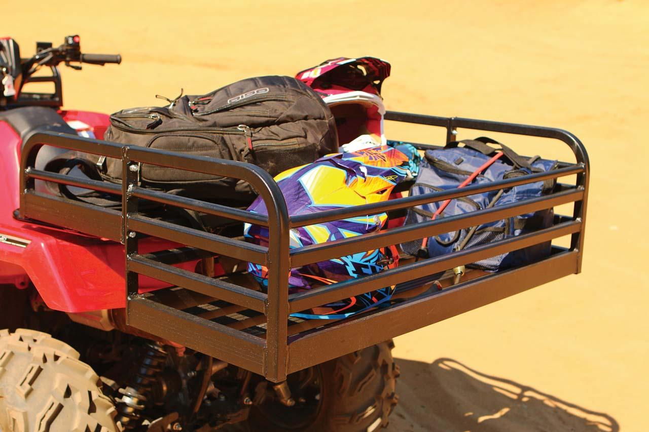 cargo storage atvrb ebay mesh image basket rear mounted itm atv rack